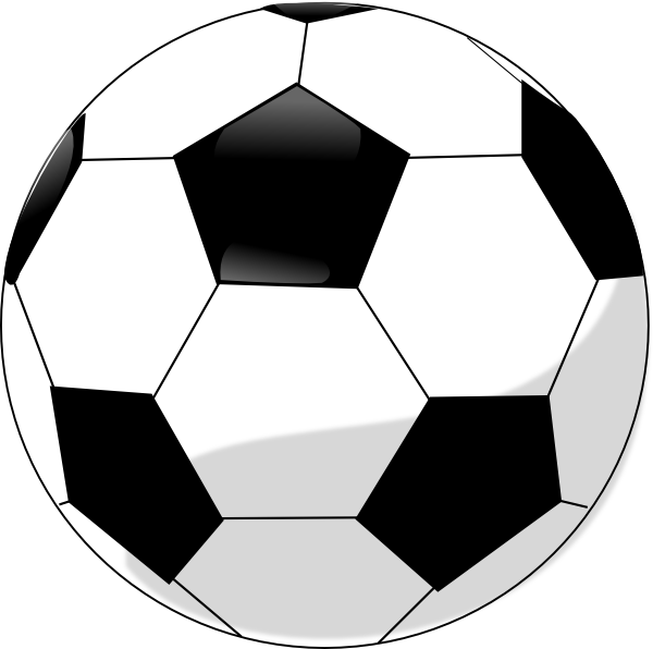 soccer ball clipart easy