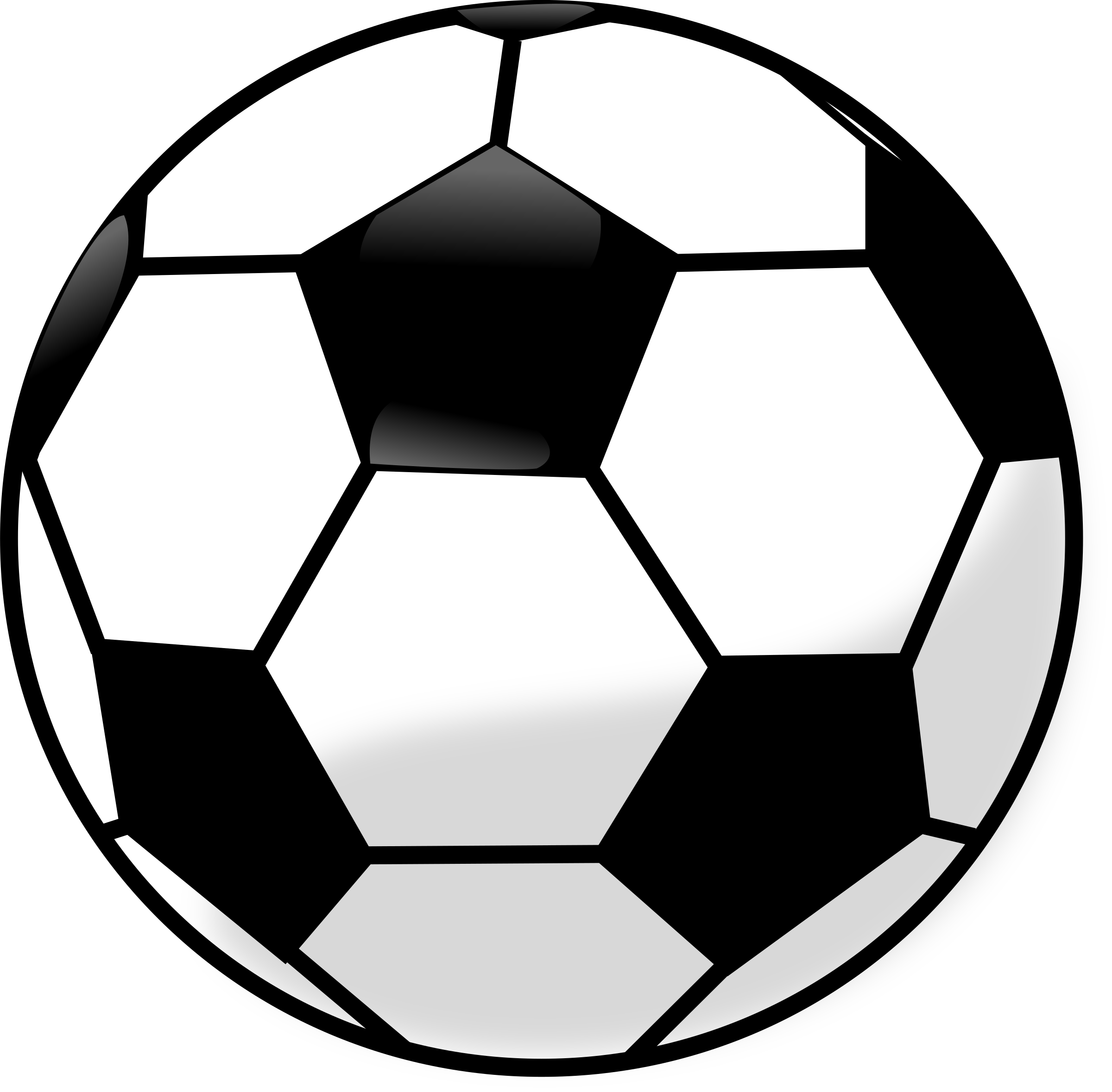 Clipart soccer. Ball clip bal png black and white download