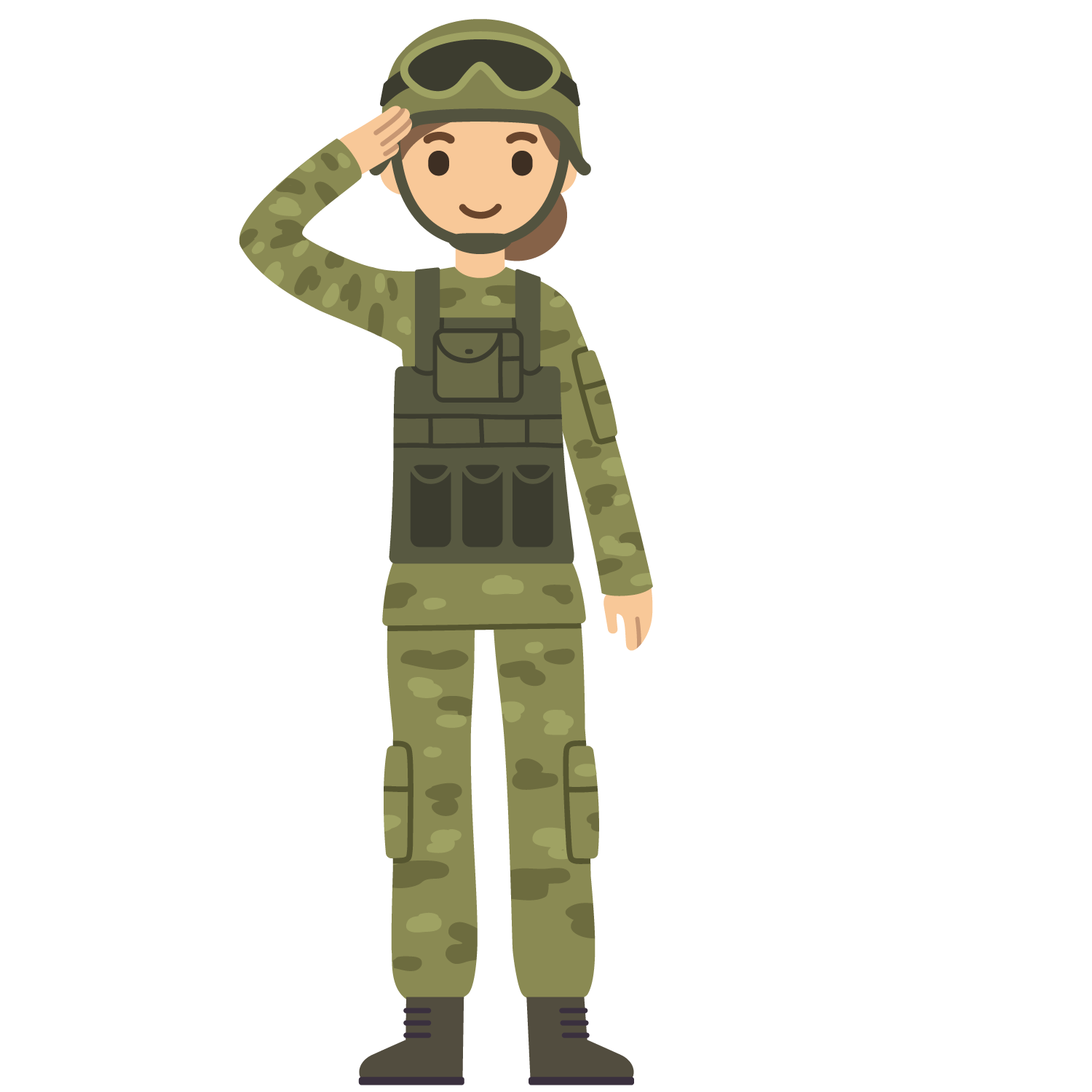 Cartoon soldier png. Salute army wearing a