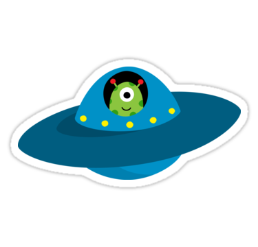 Cartoon spaceship png. Cute alien in flying