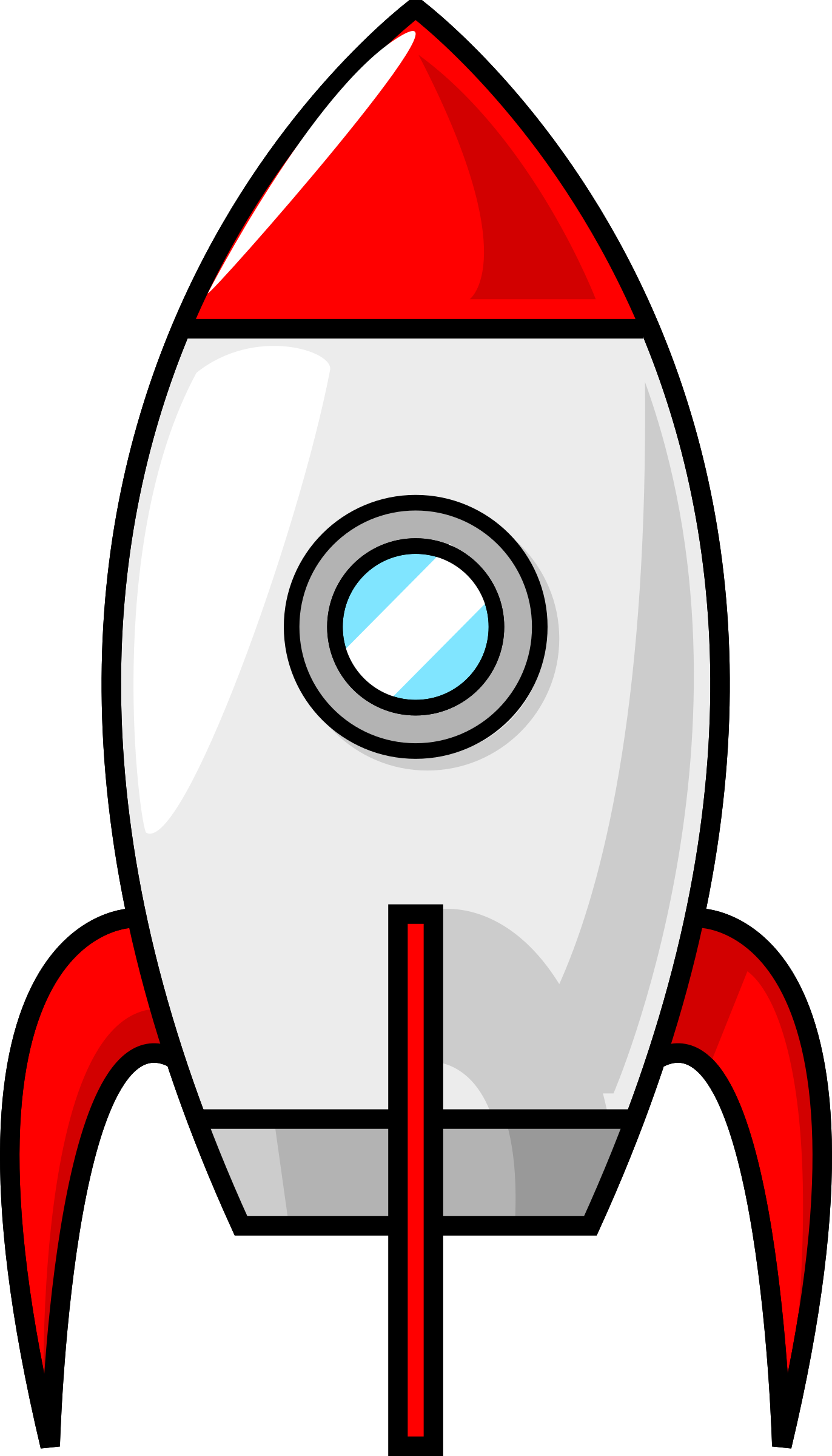 Cartoon spaceship png. A moon rocket by
