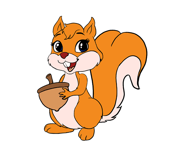Cartoon squirrel png. Rodent drawing line art