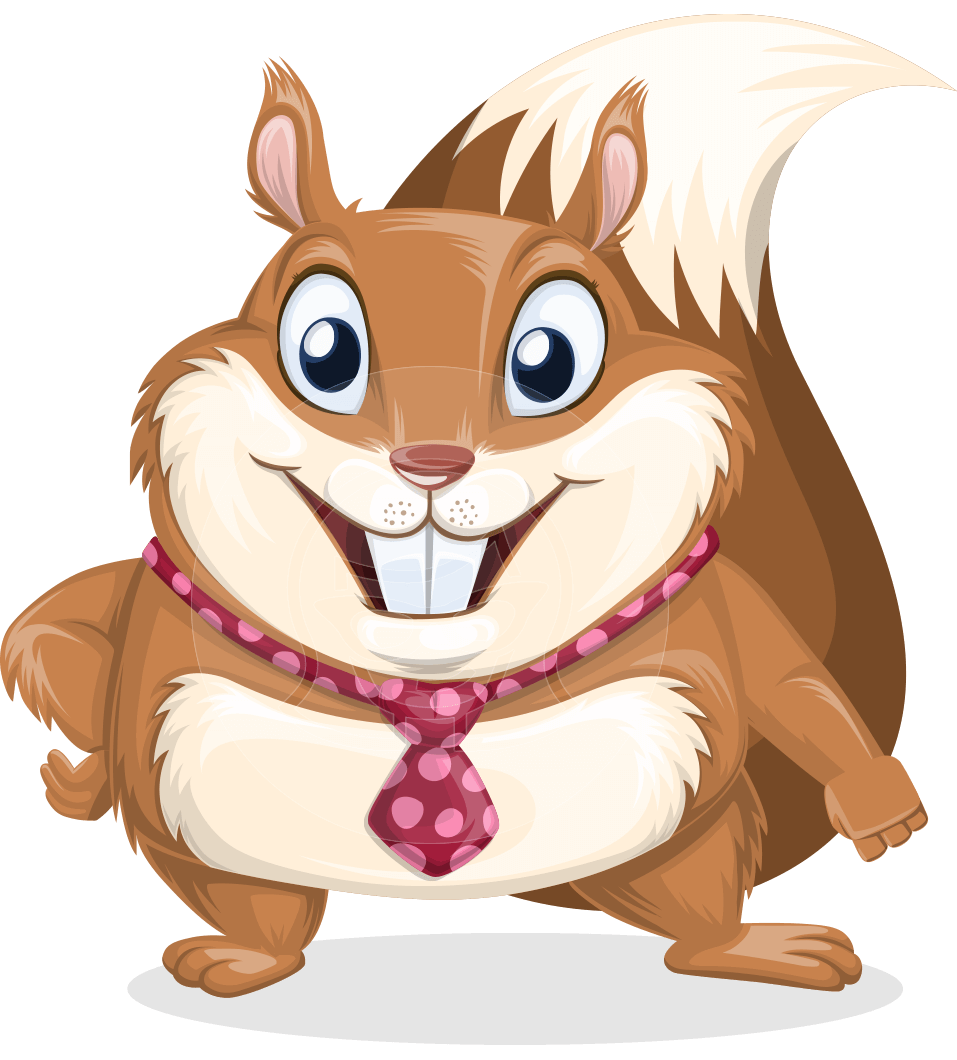 Vector squirrel. Cartoon character antonio the