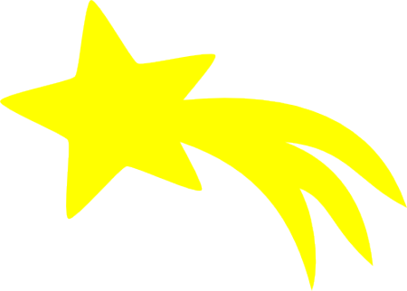 Cartoon stars png. Shooting star svg fun