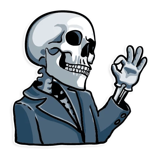 Cartoon sticker png. Skull transparent stickpng download