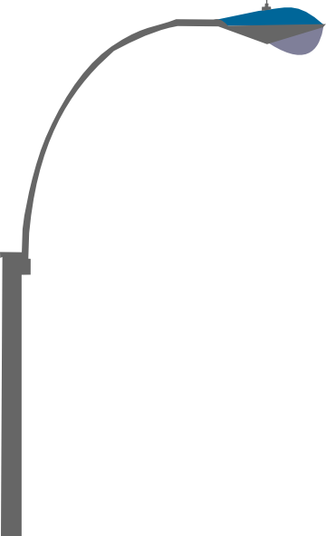Pole vector street light. Single clip art at