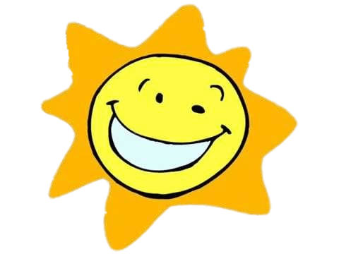 Sun cartoon png. Smiling transparent stickpng download