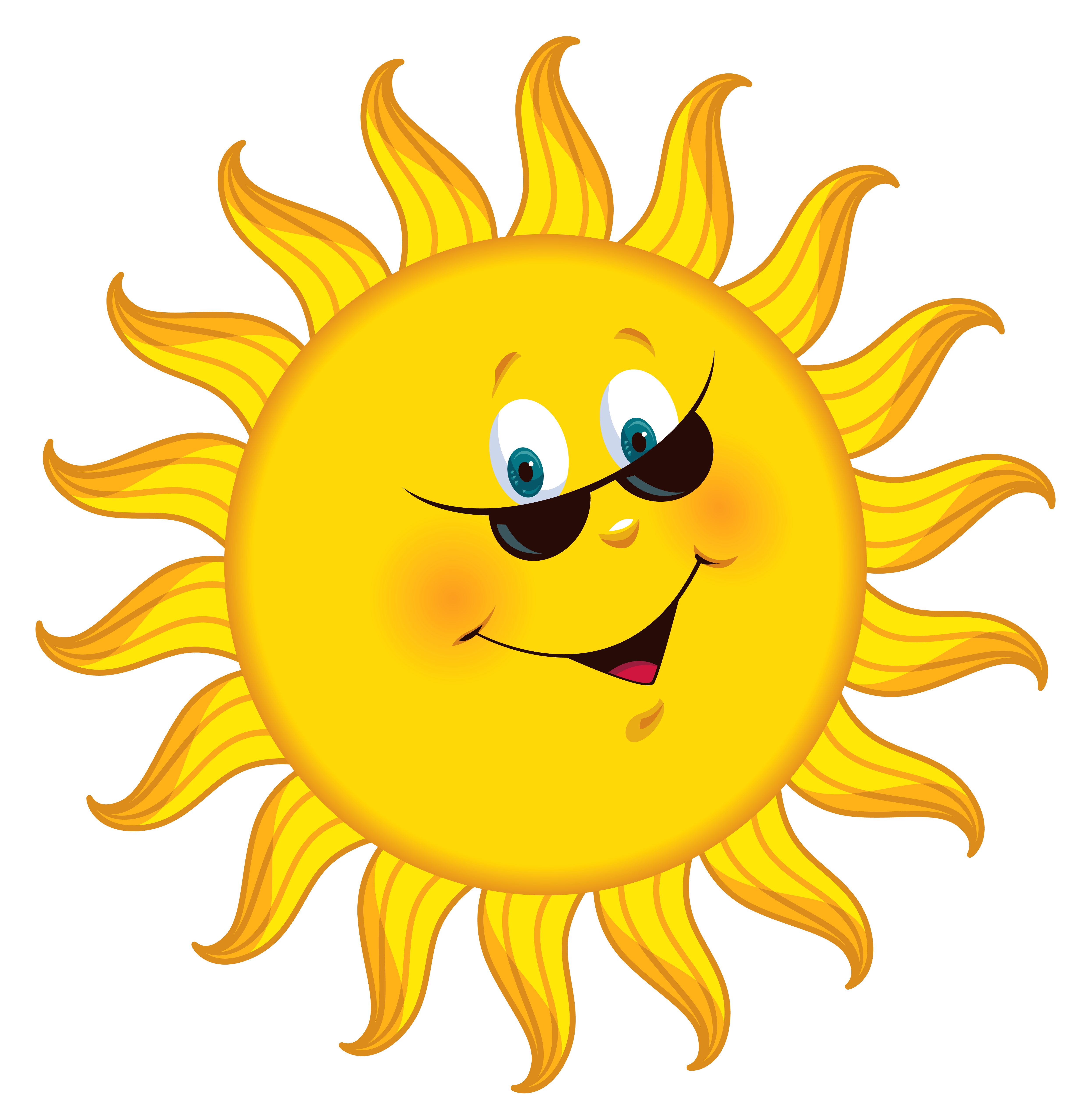 Cartoon sun png. Transparent clipart picture gallery