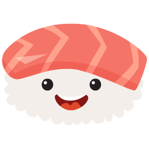 Cartoon sushi png. Kawaii by smart messages