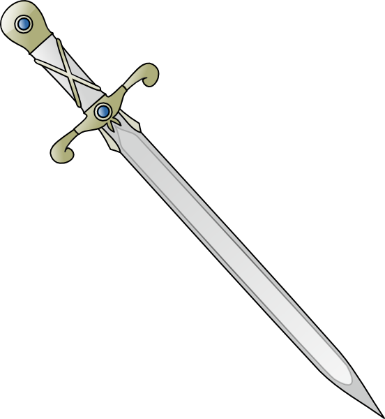 Longsword clip art at. Medieval clipart sword picture black and white download