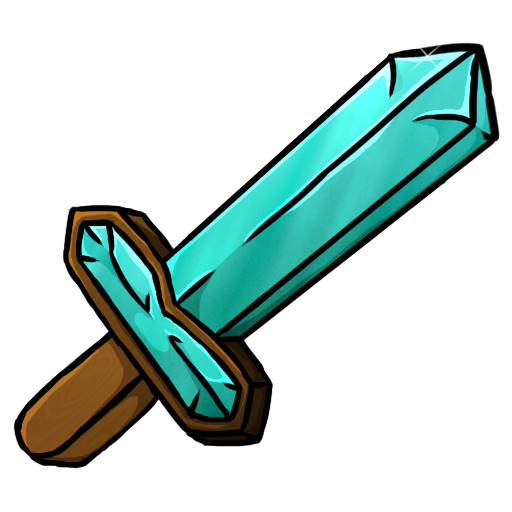 Cartoon sword png. Minecraft icons by chrisl