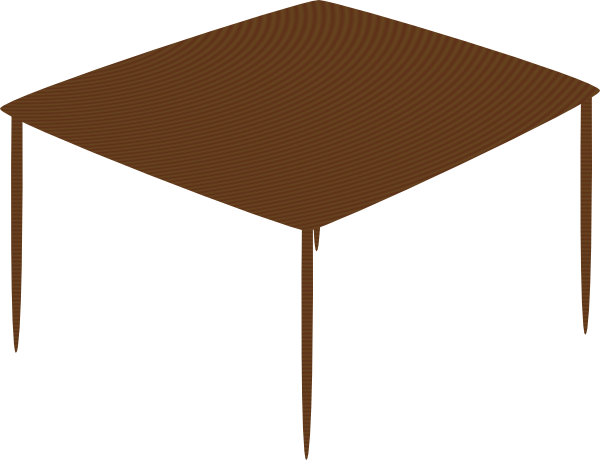 Cartoon table png. Small square clip art