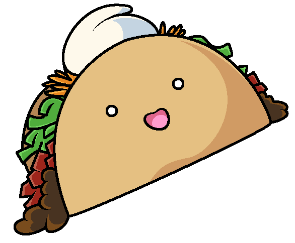 Cartoon tacos png. Happy little taco by