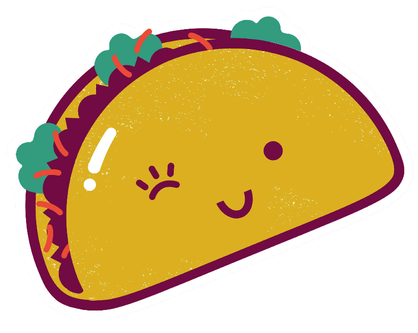Cartoon tacos png. National taco day possibly