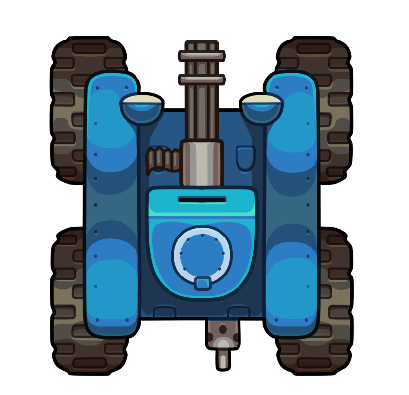 Cartoon tank cannon png. Top down vehicle opengameart
