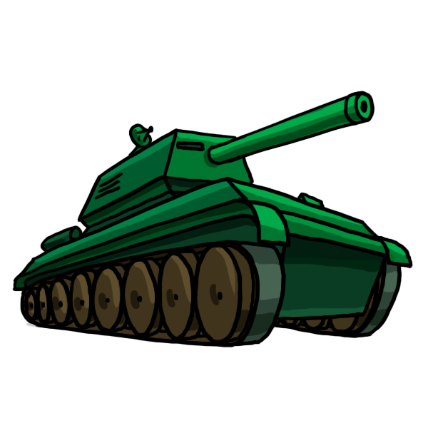 Tanks drawing. How to draw weapons