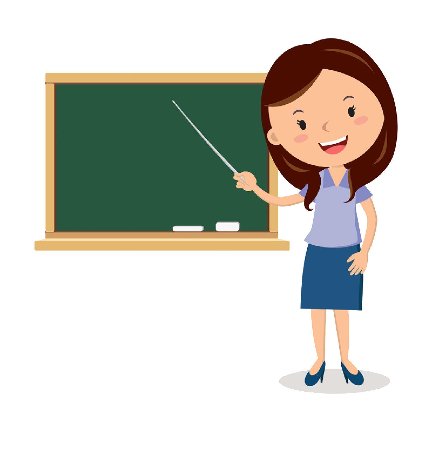 Cartoon teacher png. Blackboard teachers transprent free