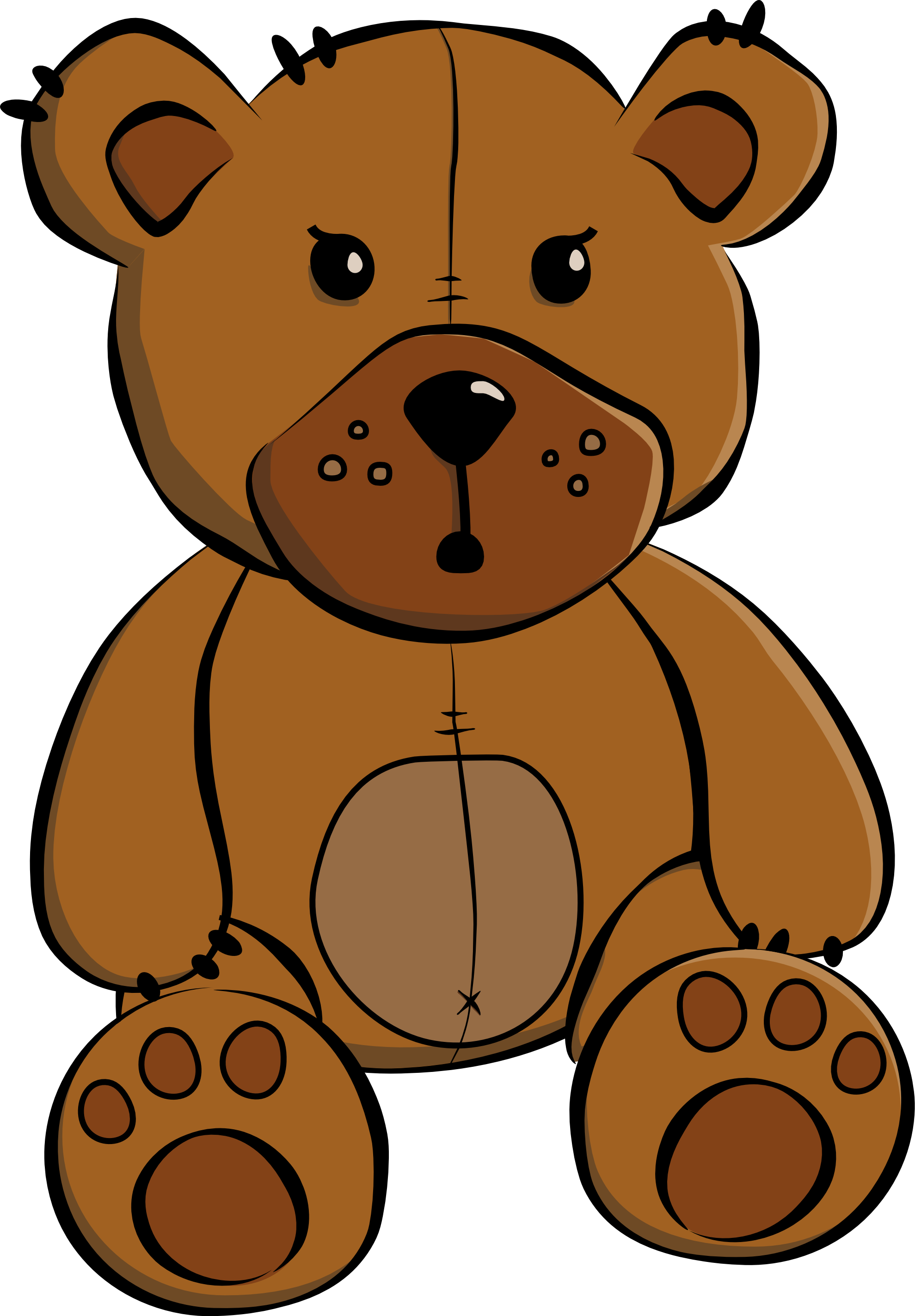 Cartoon teddy bear png. Eight isolated stock photo