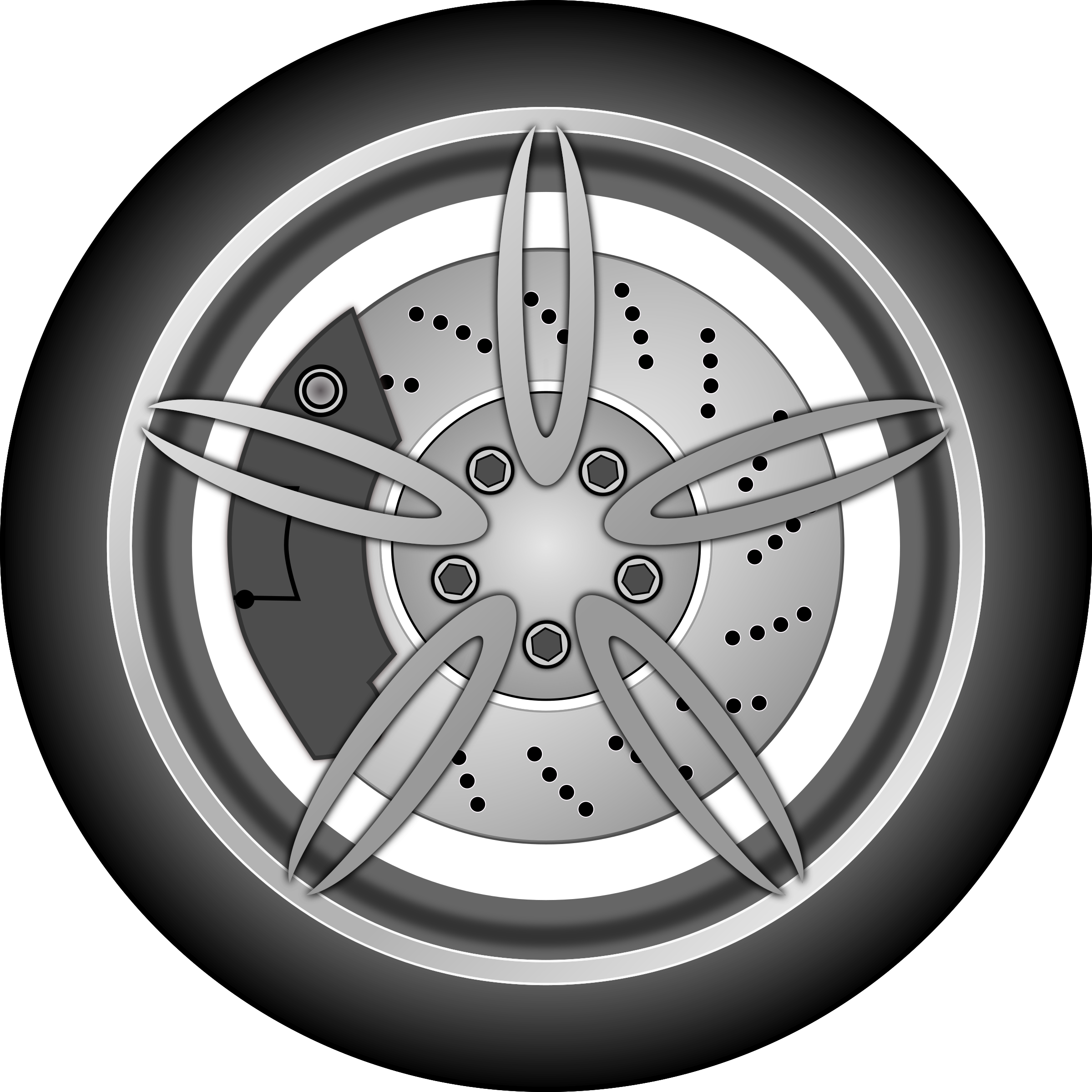 Drawing wheel car. Icons png free and