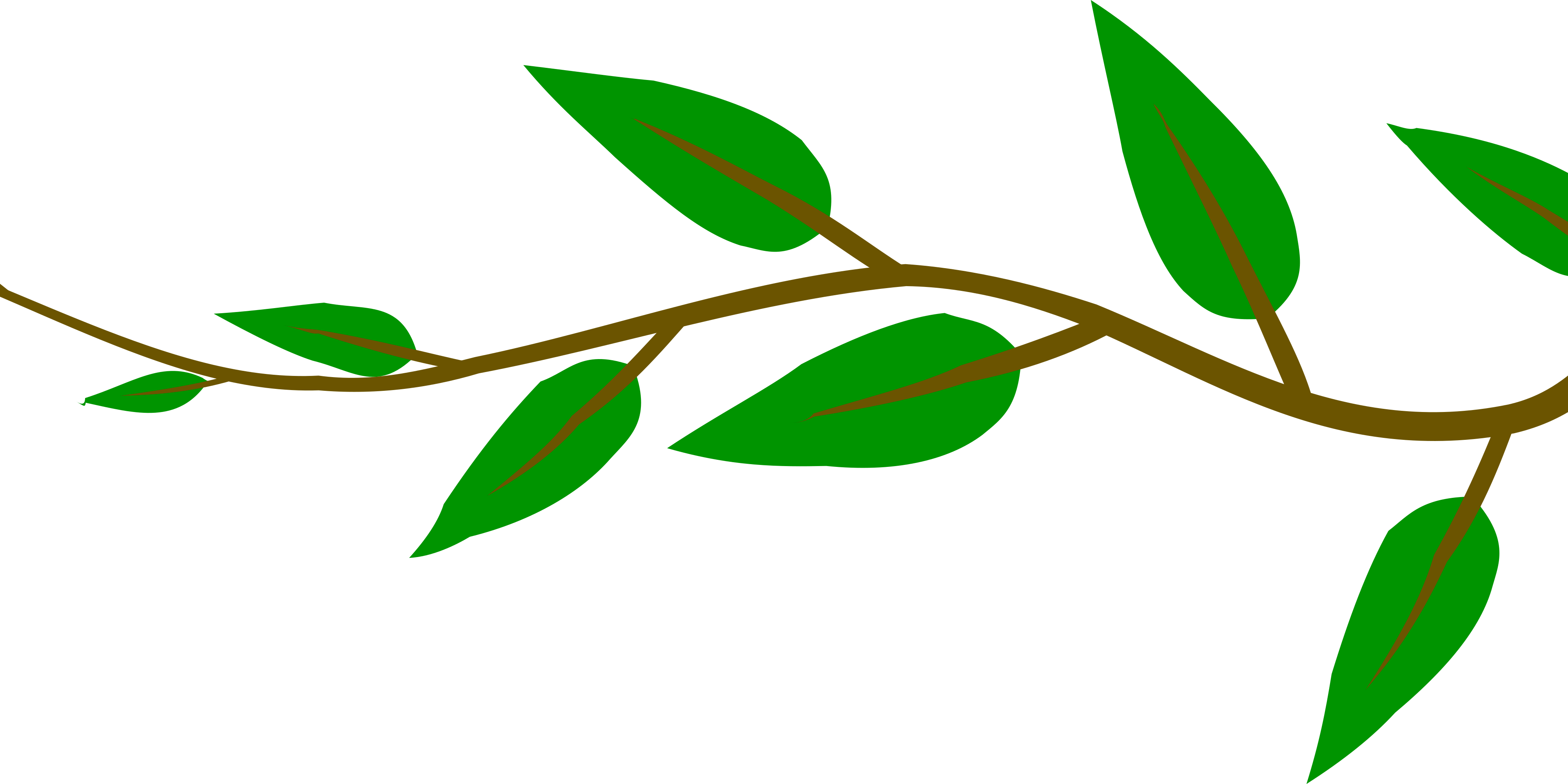 Cartoon tree branch png. Small with green leaves