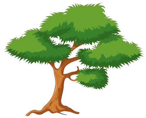 Cartoon tree branch png. Green clip art clipart