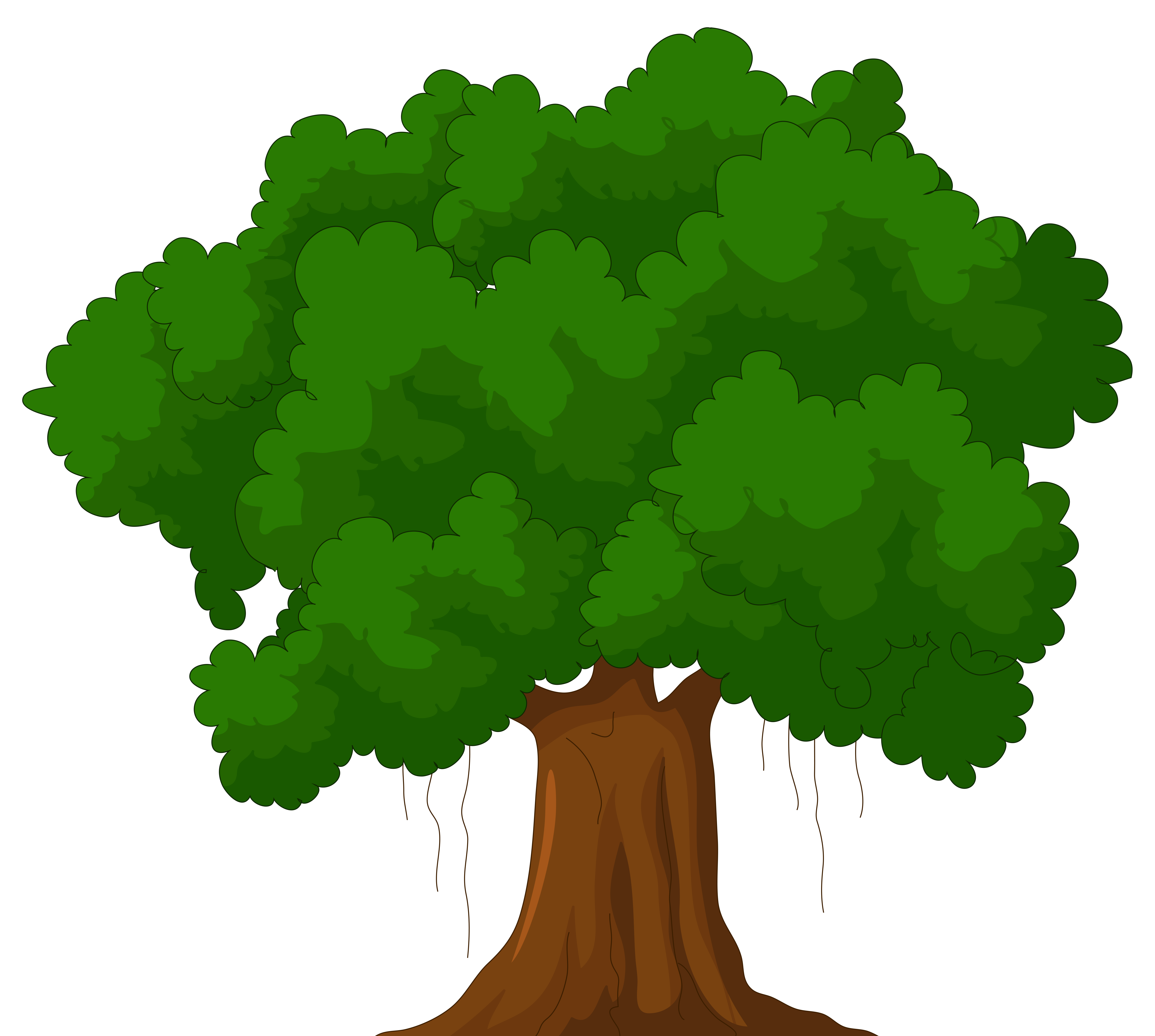 Green clipart best web. Tree cartoon png png black and white library