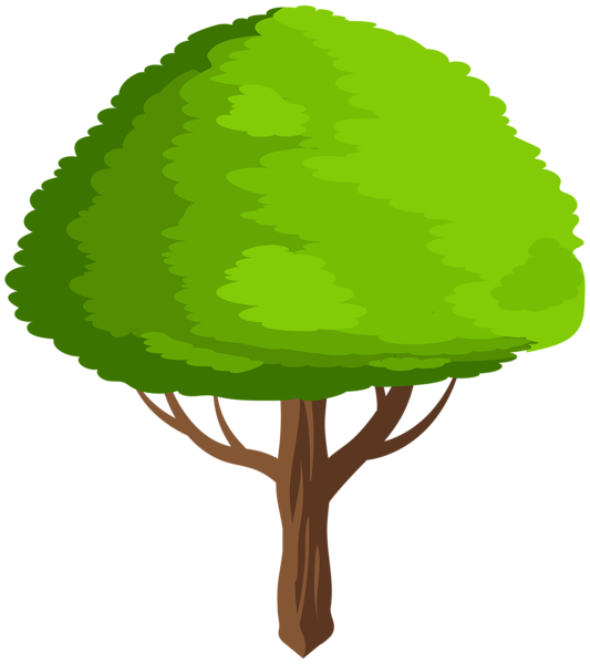 Green clip art image. Tree cartoon png clipart library download