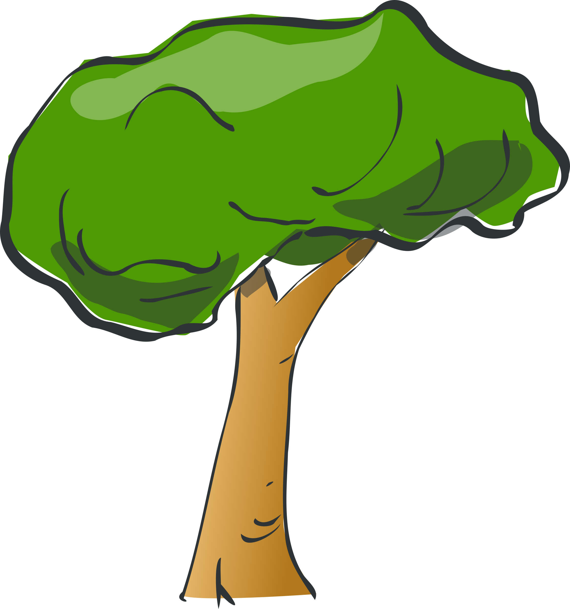 Cartoon trees png. Forest clipart at getdrawings