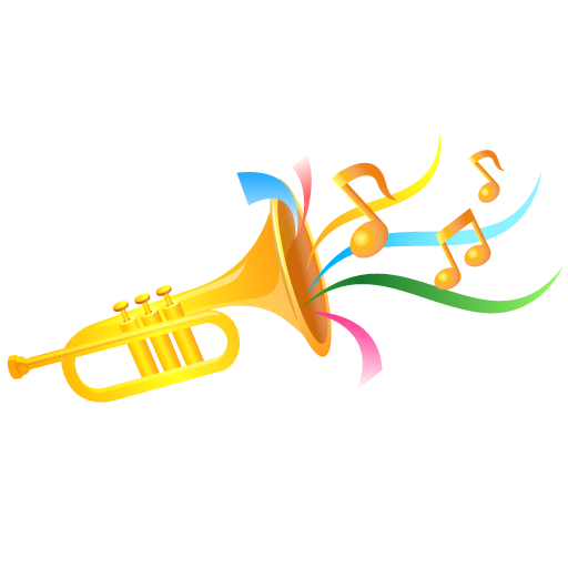 Carnival transparent background. Trumpet icon event people