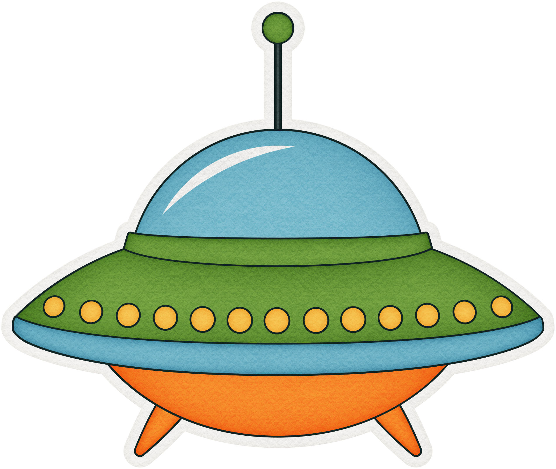 Cartoon ufo png. Unidentified flying object clip