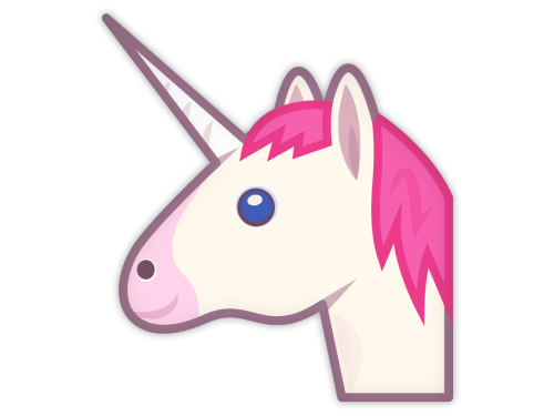 Cartoon unicorn png. Transparent stickpng