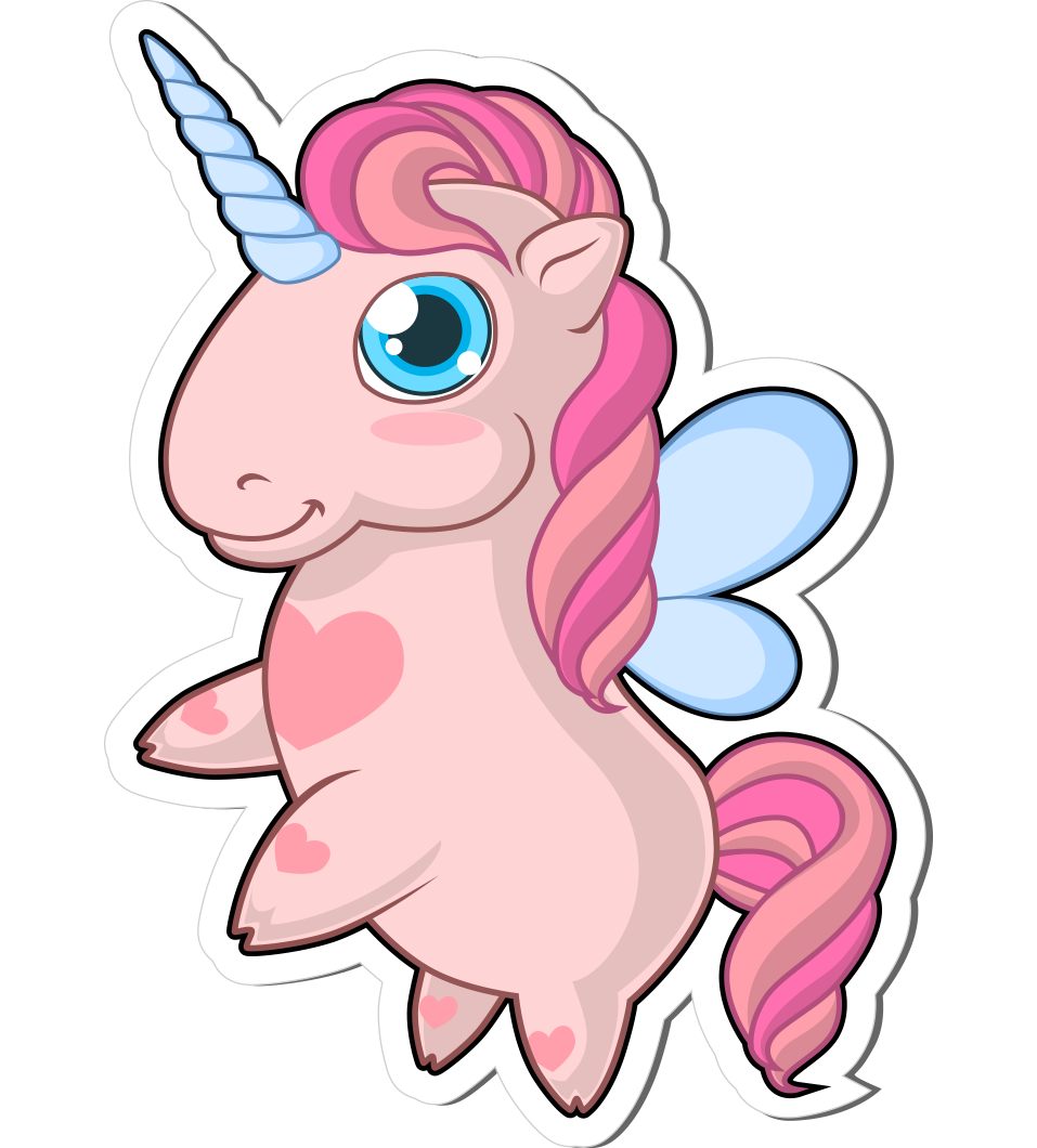 Unicorn vector png. Stickers free pamper pink