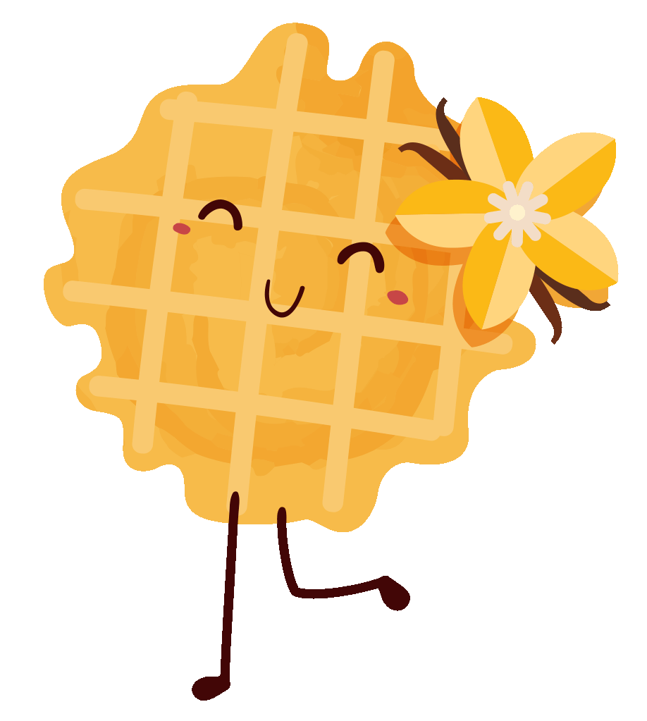 Waffle cartoon png. Bel gaufre official the