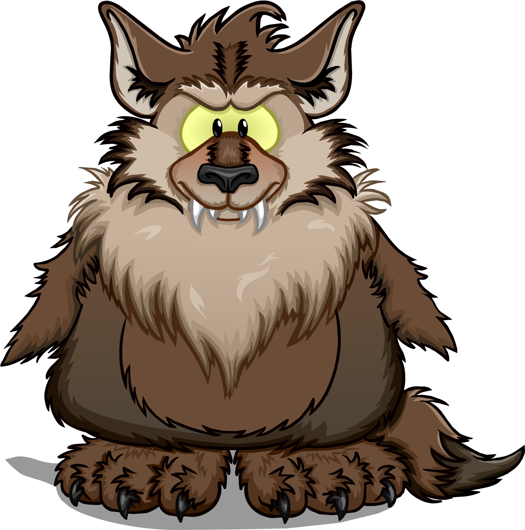Image club penguin wiki. Cartoon werewolf png image library stock