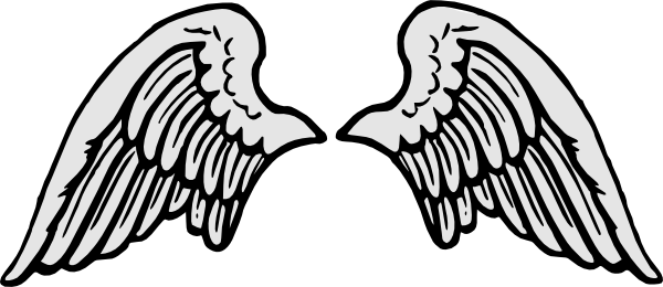 Cartoon wings png. Stone gray angel clip