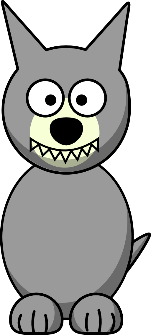 Cartoon wolf png. Clipart i royalty free