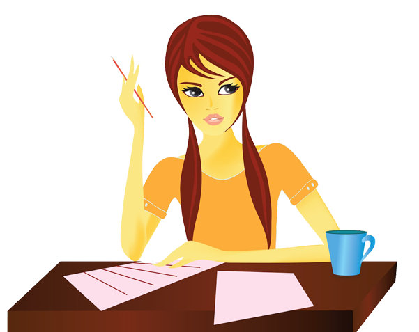 Girl writing png. Blog marketing in india