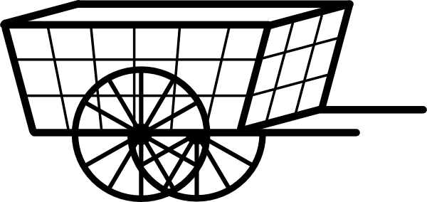 Clip art at clker. Cart clipart bullock cart clip art black and white