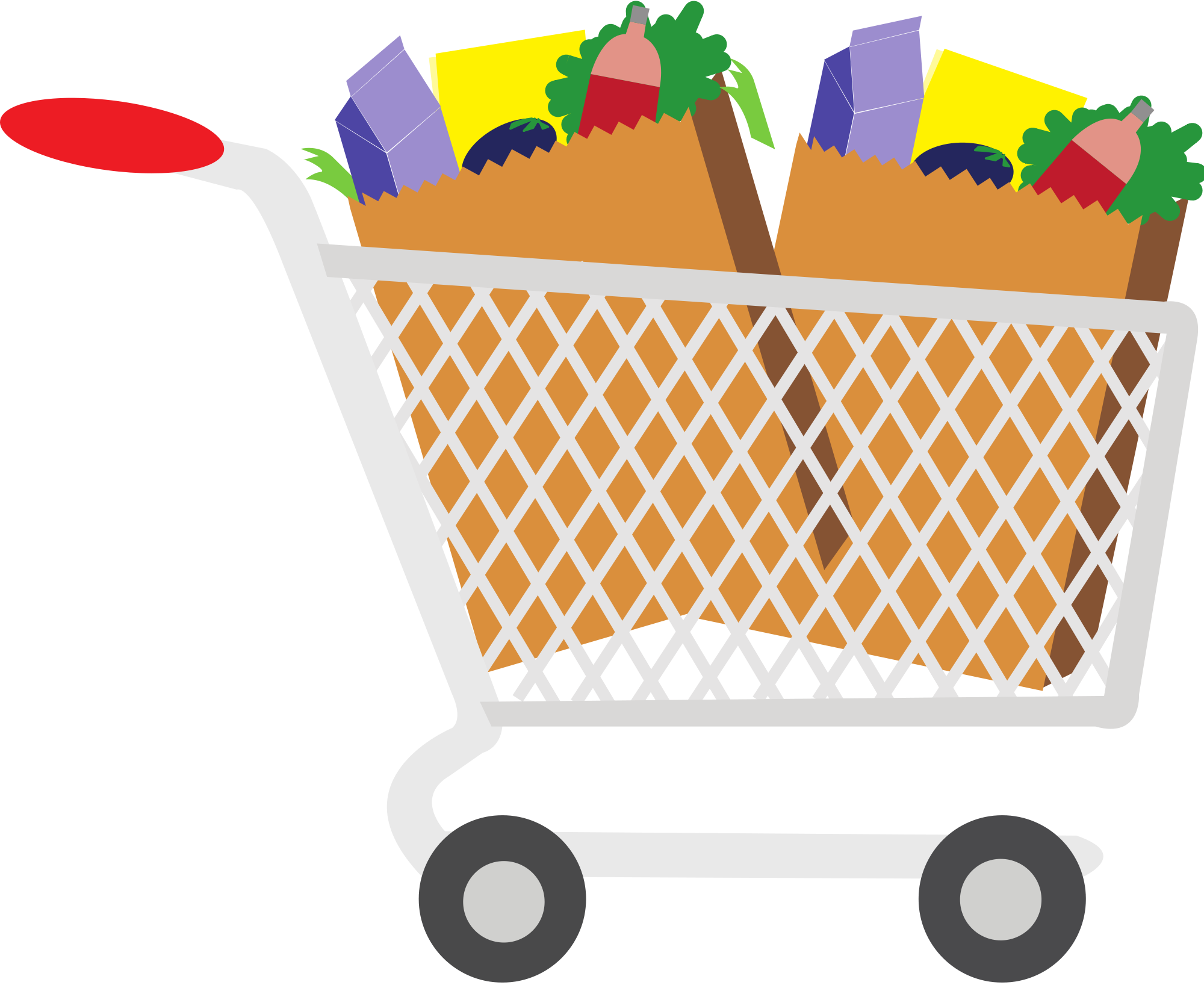groceries vector art