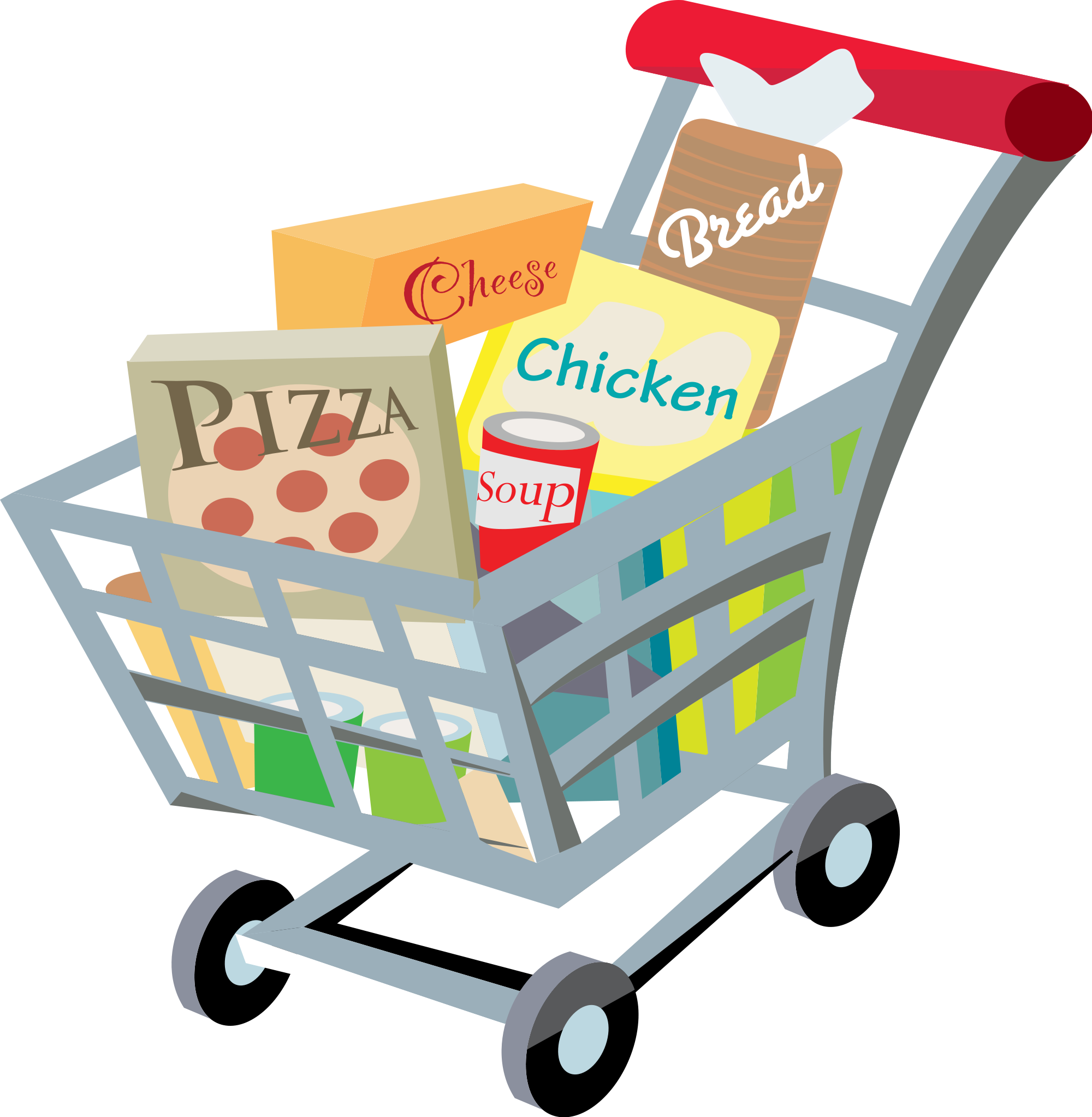 File shopping cart with. Food clip clip freeuse library