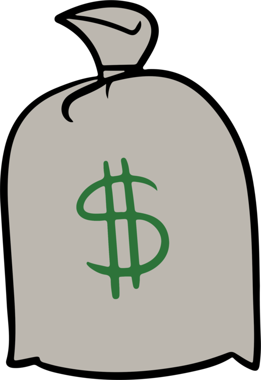 Cash drawing abstract. Money bag finance free