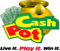 Cash drawing rolled up. Pot a game of