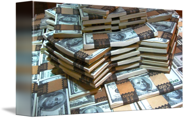 Cash drawing stacked money. Stacking by chester manuel