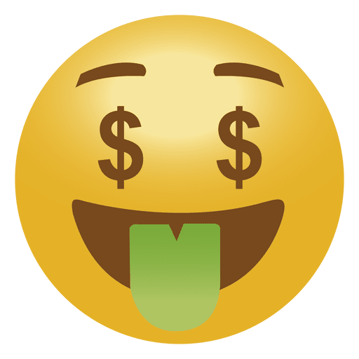 Money tongue emoji png