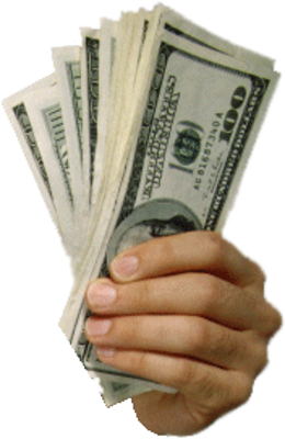 Cash in hand png. Baron holdings real estate