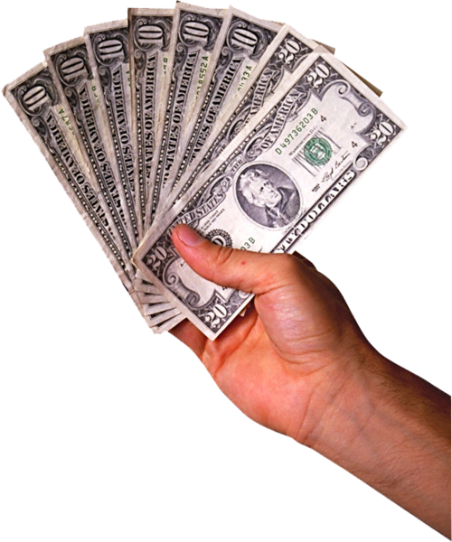 Cash in hand png. Psd official psds share