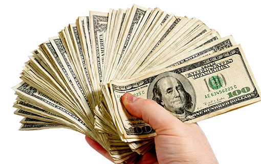 Cash in hand png. Recycle junk cars for