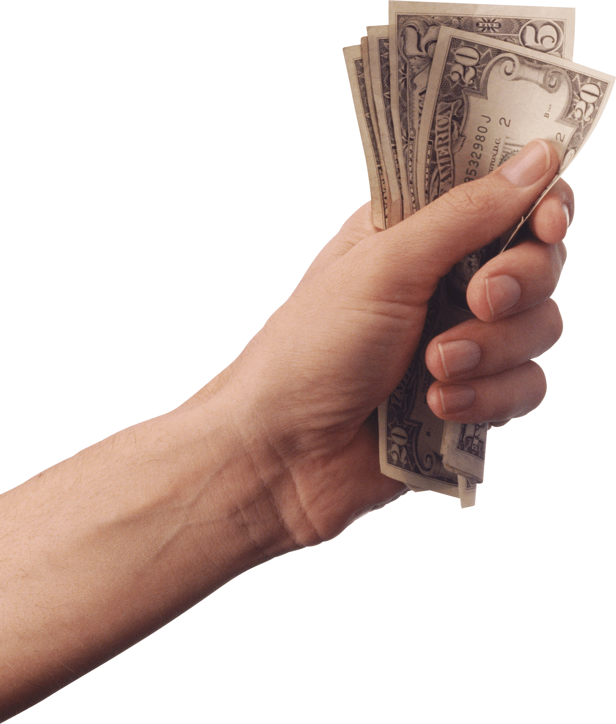 Cash in hand png. Holding money transparent stickpng
