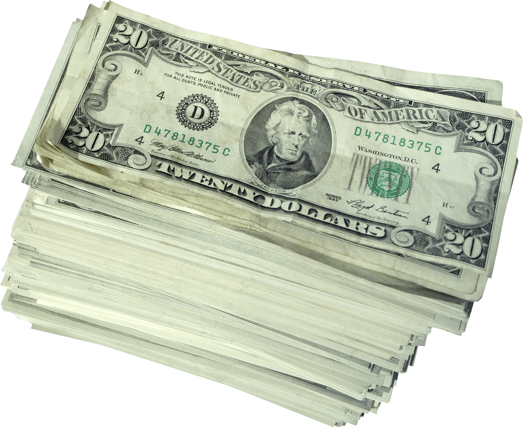 Cash transparent png. Money dollars pile stickpng