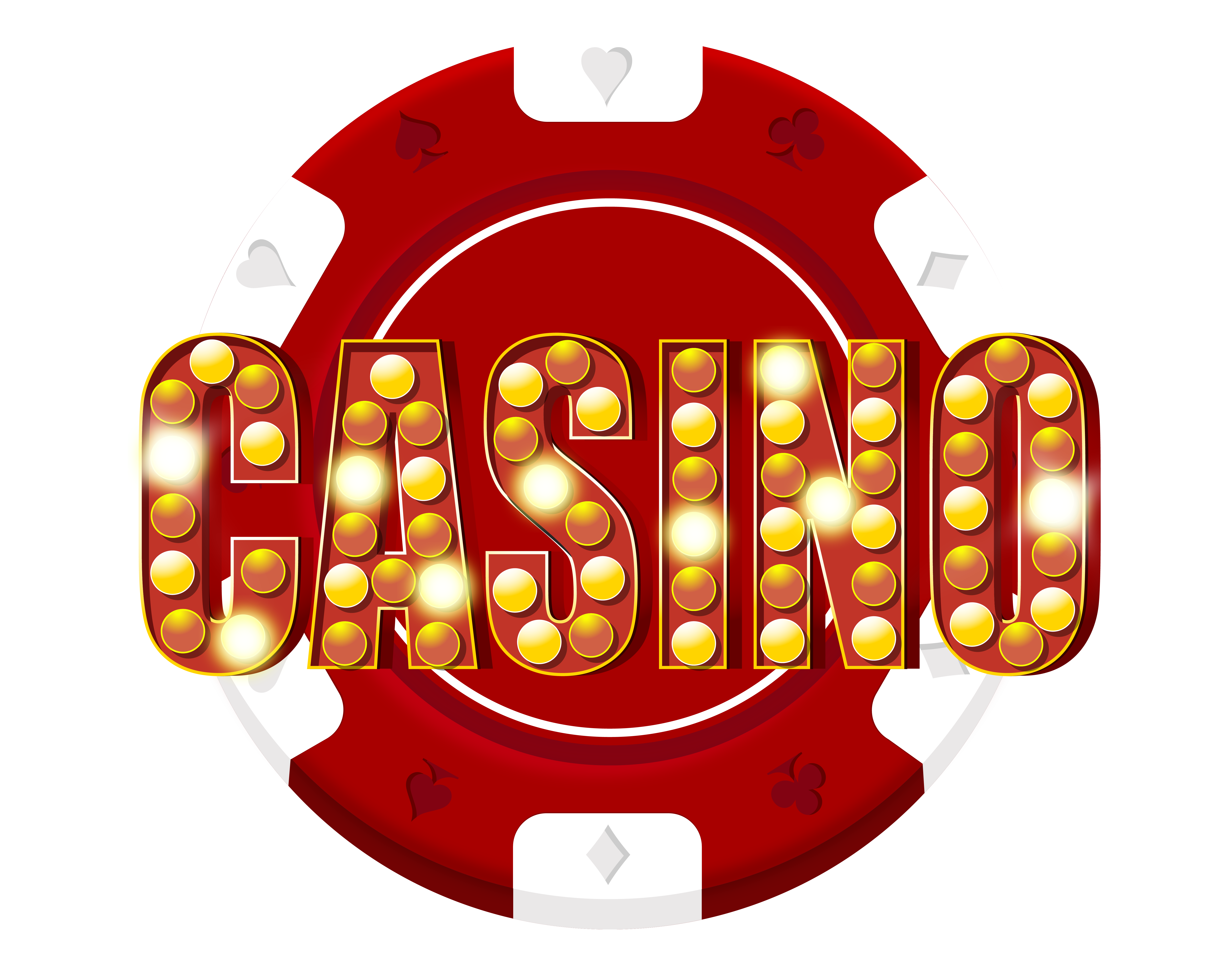 Red casino chip decoration. Chips png clipart library